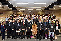 Group photo of participants in the Academic Symposium on Adolescent Mental Health and Disorders 2015