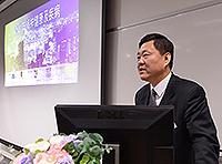 Mr. Zou Liyao, Director of Hong Kong, Macau and Taiwan Office of NSFC delivers a speech