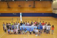 Group photo at the Third Director's Cup Badminton Tournament