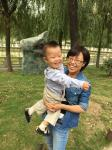 Dr. Hu Fan and her son