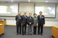 (From left) Prof. Chan Wai-yee, Prof. Tony Chan, Prof. Yang Huanming, Mrs. Fanny Law and Prof. Benjamin Wah taken during the Conference