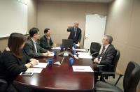 Prof. Steven W. Edwards (1st from right) meets with our School representatives