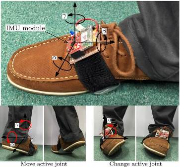 Fig. 4. The wearable foot-control interface