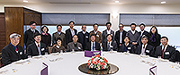 中國科學院院士訪問團與中大校長沈祖堯教授(前排中)共晉午宴