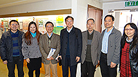 袁亞湘院士(中)和嚴加安院士(右三)訪問中大數學系及統計學系