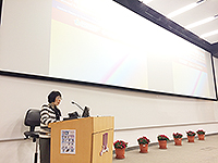 Prof. Fanny Cheung, Pro-Vice-Chancellor of CUHK and Advisor of Hong Kong Scholars Programme, gives the welcoming speech at the Symposium