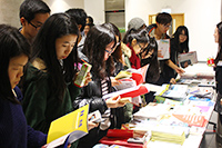 CUHK students gather for information about various activities in 2016