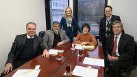 Members of Scientific Advisory Committee in meeting with Prof. Fanny Cheung, Pro-Vice-Chancellor/Vice-President (3rd from right)
