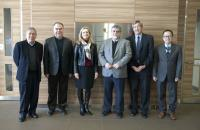 Scientific Advisory Committee members including (from right) Dr. Peter C.K. Leung, Dr. Bruce R. Conklin, Dr. Vassilios Papadopoulos, Dr. Cynthia Casson Morton and Dr. Michael Schumacher with our School Director