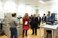 The guest was showed around our Core Laboratories by Prof. Chan Wai-yee, School Director (4th from right)