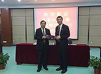 中大校長沈祖堯教授(前排左)與寧波大學沈滿洪校長簽署合作框架協議