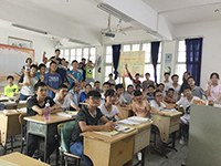 In a group photo with my Class 1414 (Photo Credit: Miss Katy Kwan)