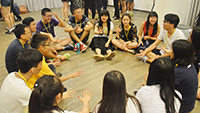 Participants get to know one another more through group games (Photo Credit: Mr Godfrey Lau)