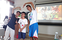Students from Guangdong and Hong Kong make good friends through ice-breaking games (Photo Credit: Mr Paco Cheung)