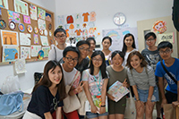 CUHK students visit a local child service centre (Photo Credit: Miss Lillian Lee)