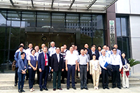 Prof. Fanny Cheung (fourth from right in front row), Pro-Vice-Chancellor of CUHK, visits the Key Laboratory of Chemistry for Natural Products
