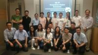 Prof. Alfred Cheng (1st from left, first row), Prof. Chan Wai-yee (2nd from left, first row), Prof. Woody Chan (1st from right, first row) and Prof. Fung Kwok-pui (1st from right, back row) with members of the 4th and 5th Executive Committee of PSA.