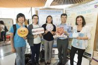 Prof. Vincent Cheung and his research team show supports to Miss Dakota Wicks (middle)