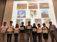 黄聿教授(右一)与所有优异奖得奖者合照