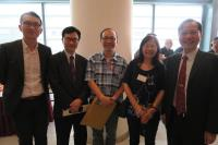 (From right) Prof. Fung Kwok-pui, Associate Director (Academic Administration); Ms. Jenny H.J. Hou; Mr. Chung Yiu-wa; Prof. Woody W.Y. Chan, Associate Director (Graduate Education); and Mr. Chan Chi-ho, Senior Administrative Manager