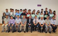 A group photo of the summer interns and our investigators taken upon the completion of the Programme