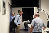 Prof. Ladbury (middle) tours the Core Facilities of our School