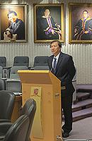北京師範大學副校長郝芳華教授在會議上發言