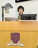 Prof. Fanny CHEUNG, Pro-Vice-Chancellor of CUHK and Chairman of the Academic Advisory Committee of this symposium, delivers a speech at the opening ceremony of the symposium