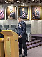 國家教育部港澳台辦公室副主任王志偉先生在講座上分享真知灼見
