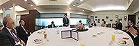 四位院士訪校期間與中大校長兼中國工程院院士沈祖堯院士共晉午餐