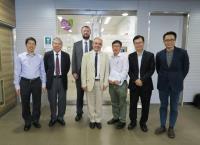 (From left) Prof. Wan Chao, Prof. Chan Wai-yee, Prof. Matthew Walters, Prof. Tom Evans, Prof. Yao Xiaoqiang, Prof. Woody Chan and Prof. Alfred Cheng