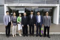 Group photo of Prof. Chan Wai-yee (middle), Prof. Fung Kwok-pui (right) and the Korean delegation taken during the visit