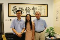 (From right) Prof. Chan Wai-yee, Director of SBS, Dr. Sophie Liu, and Prof. Woody W.Y. Chan, Associate Director (Graduate Education) of SBS