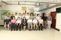 Group photo of Prof. Wan Chao, Prof. Kingston Mak, and Prof. Kenneth Lee (1st to 3rd from left, back) with the participants from Jinan University