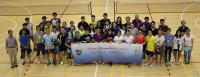 Group photo at the Fourth Director's Cup Badminton Tournament