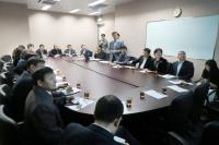 The delegation in meeting with Prof. Vincent Cheung, Prof. Christopher Cheng and Prof. Fung Kwok-pui (5th to 7th from right)