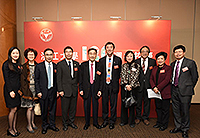 Prof. Joseph Sung (fifth from right), Vice-Chancellor of CUHK, poses for a group photo with delegates