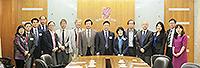 中國社會科學院學者訪問團與中大教職員合照