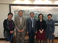 Prof. Cui Peng poses for a photo with Prof. Veronica Wong, Associate Vice-President of CUHK (2nd from right)