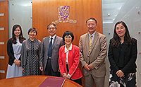 Prof. Cui Peng, Division of Earth Sciences of CAS, poses for a photo with Prof. Fanny Cheung, Pro-Vice-Chancellor of CUHK