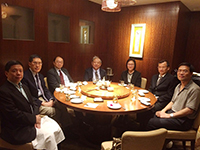 Prof. Isabella Poon (third from left), Pro-Vice-Chancellor of CUHK, hosts the welcome dinner for AS Academicians
