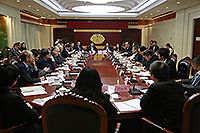 Senior members of CUHK meet with leaders of the State Ministry of Education and Beijing Municipal Education Commission in Beijing