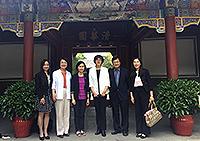 中大協理副校長王淑英教授(左三)出訪清華大學