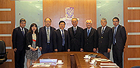 Prof. Liu Congqiang (fourth from left), Vice President of NSFC, poses for a group photo with CUHK members, including Prof. Fok Tai-fai (fourth from right), Pro-Vice-Chancellor of CUHK