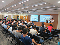 Mr. Dong Yaohai, Researcher of Shanghai Academy of Spaceflight Technology (SAST), China Aerospace Science and Technology Corporation (CASC), gives a talk at CUHK