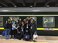 CUHK students head for Russia from Harbin by train (Photo credit: Participants of summer programme hosted by Harbin Institute of Technology)