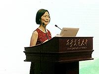 Prof. Wong Suk-ying, Associate Vice-President of CUHK ,delivers a keynote presentation