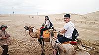 中大學生初嘗騎駱駝滋味