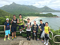 Enjoying the green nature with fellows (Photo credit: Mr Chen Bo-yu, China University of Technology)