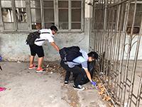 中大同學在南京浦口協助清理垃圾